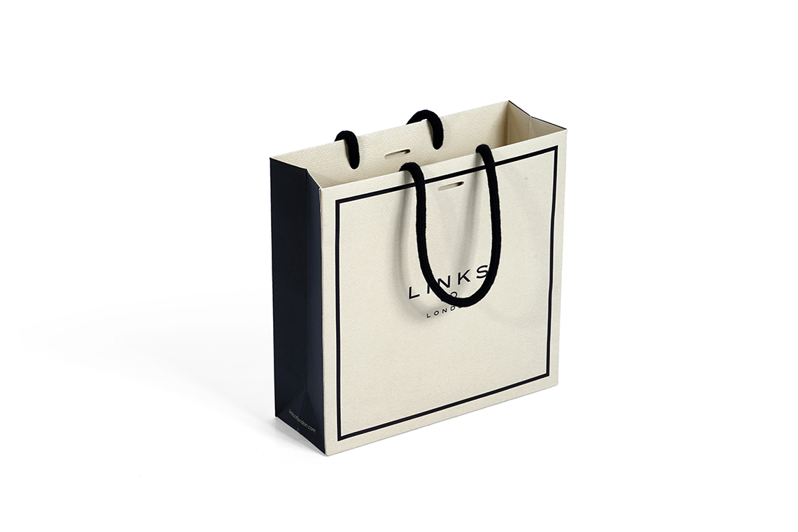 Links Hot Stamp Paper Shopping Bag