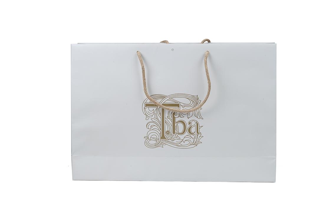 T.BA Laminated Paper Shopping Bag