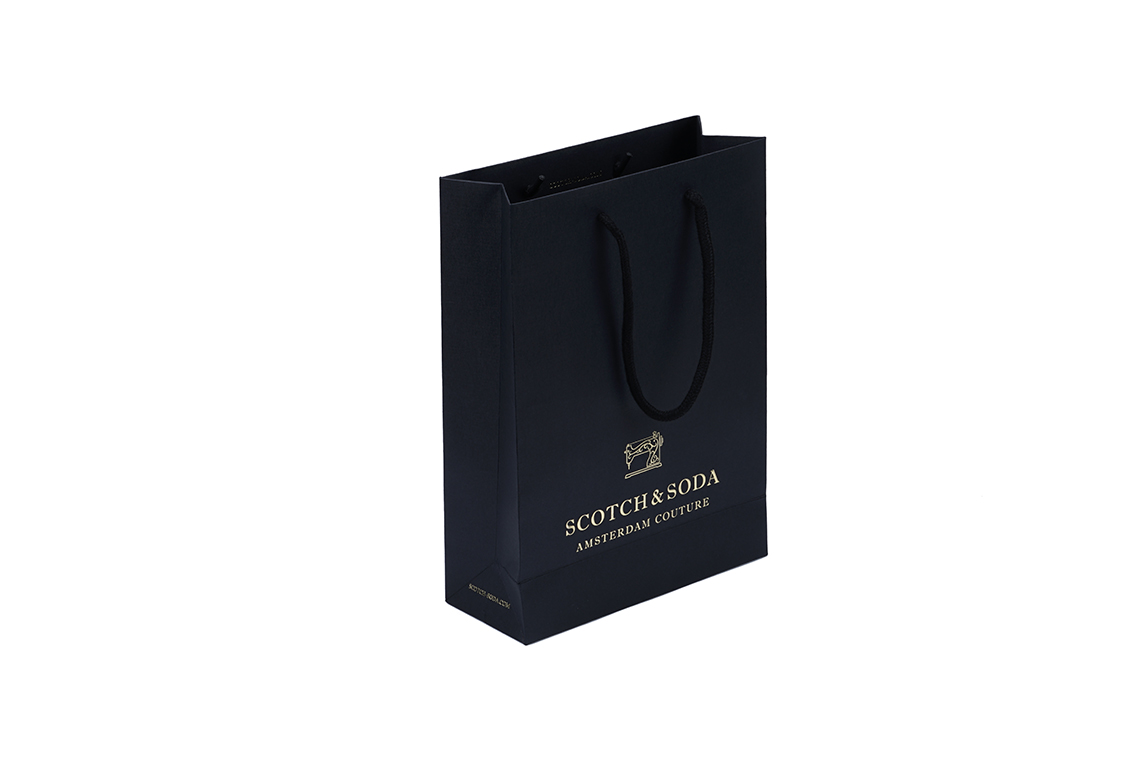 Scotch & Soda Embossed Paper Shopping Bag